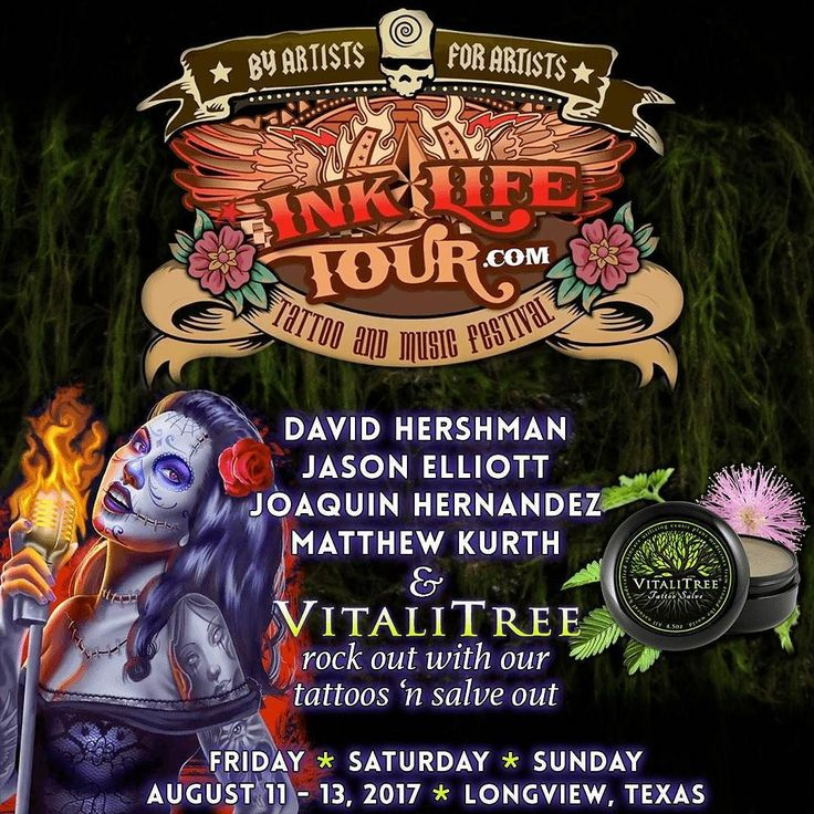 NEXT WEEK! We will be at one of Texas hottest tattoo conventions of the year the Ink Life Tour & Music Festival in Longview Texas! The show commences August 11th - 13th at the Maude Cobb Event Center located at 100 Grand Blvd in Longview Texas.  Joining us will be Texan tattoo artists David Hershman (@dhershmantattoo) Jason Elliott (@jasontattooer) Joaquin Hernandez (@quin_hernandeztattoo) and Matt Kurth (@matinktx). We cant wait to see you all again in living color.   Entertainment and…