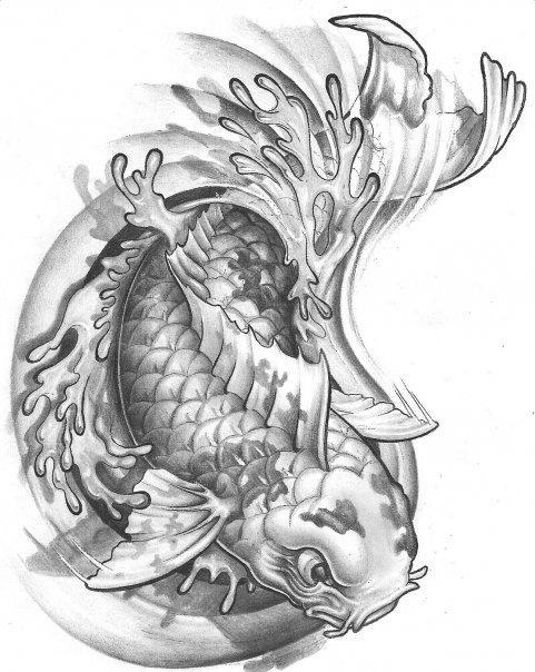 48 best KOI images on Pinterest  Full sleeve tattoos Dragon