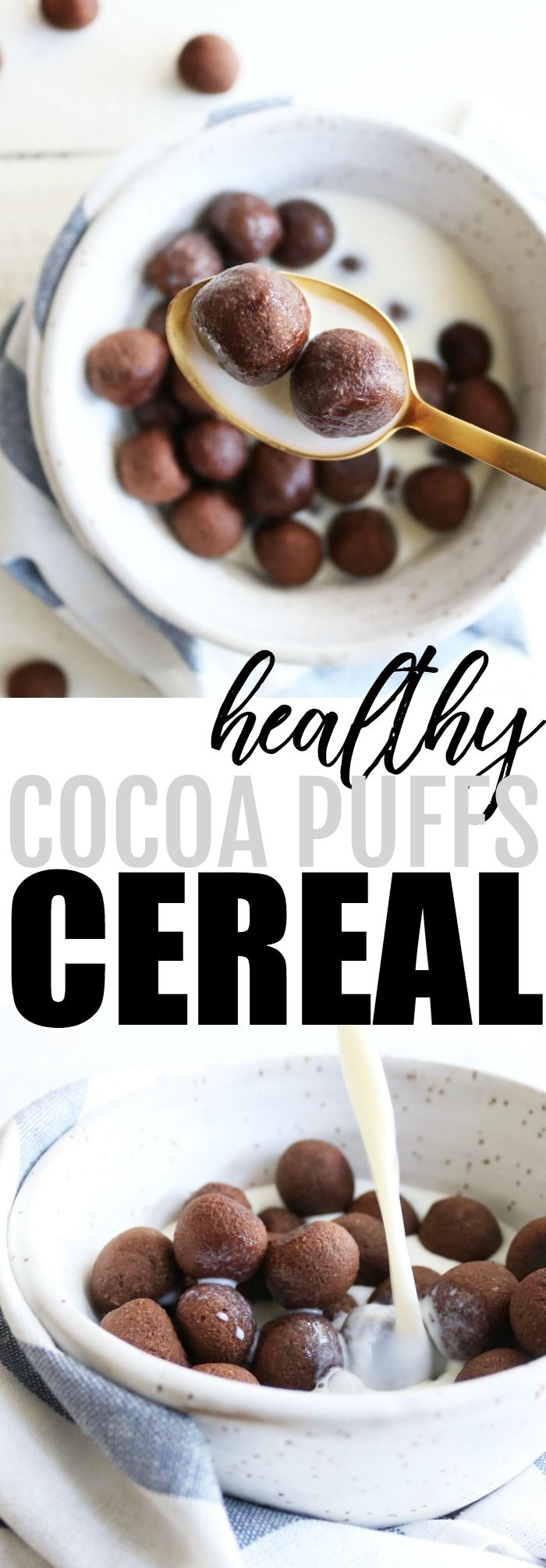 Chocolate for breakfast?! I'm in!! Try these healthy and homemade cocoa puffs cereal for a delicious way to start your day! low carb + gluten free + paleo friendly :) thetoastedpinenut.com