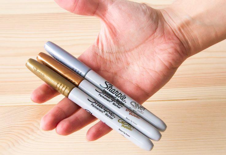 Sharpie Metallic (Gold, Silver og Bronze) - se mere på BLOG Bog & idé