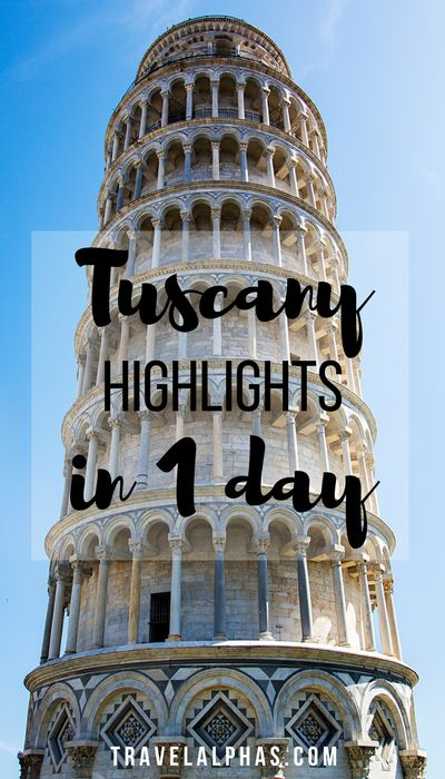 A guide to Tuscany, Italy's highlights in one day. From San Gimignano and Pisa…