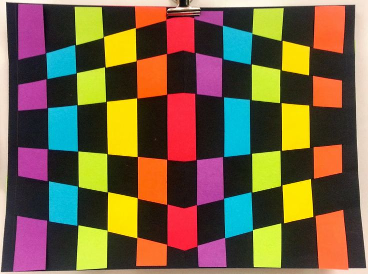 Art with Ms. Gram: Op Art Paper Weaving (3rd and 5th)