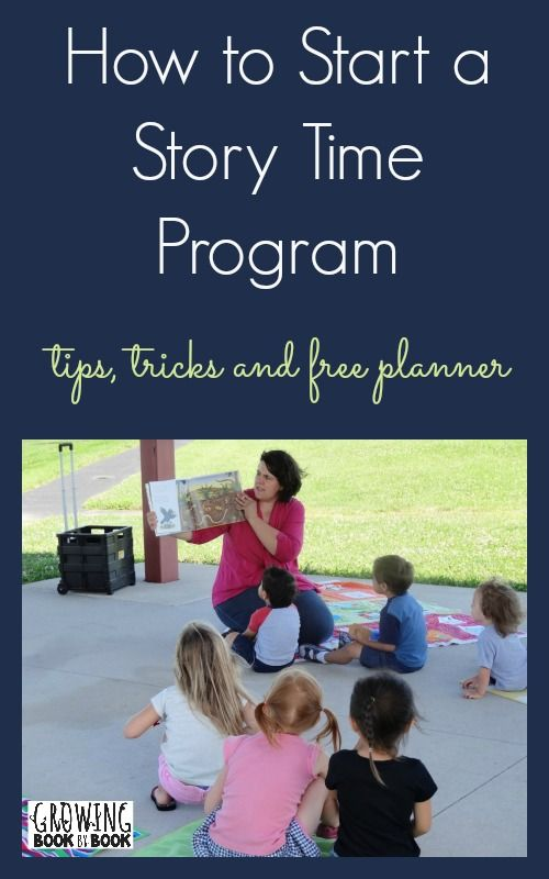Tips and ideas for starting your own community story time including a free printable planner.