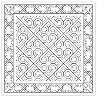blackwork | and a new freebie chart available at practical blackwork click