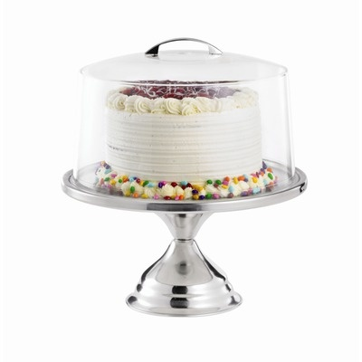 "Tablecraft 13.75"" Cake Stand / Cover Set"