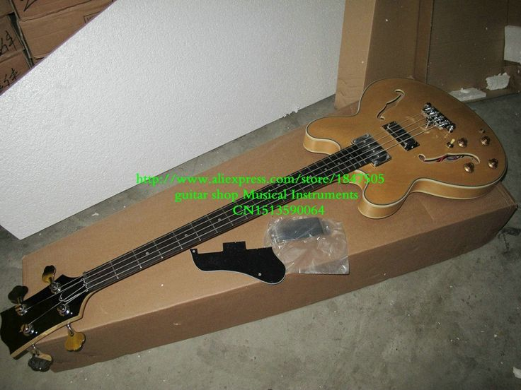 311.60$  Watch here - http://ali2hw.worldwells.pw/go.php?t=32500449283 - Custom Left Handed Bass Guitar 4 Strings 335 Bass Guitar Natural Electric Bass Guitar OEM free shipping 311.60$