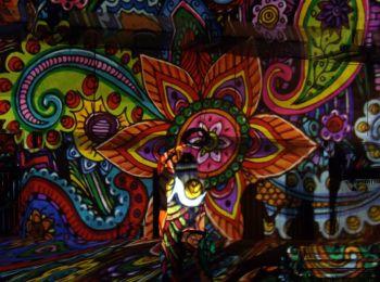 Night Projection fényfestés - Családi Nap Szeged