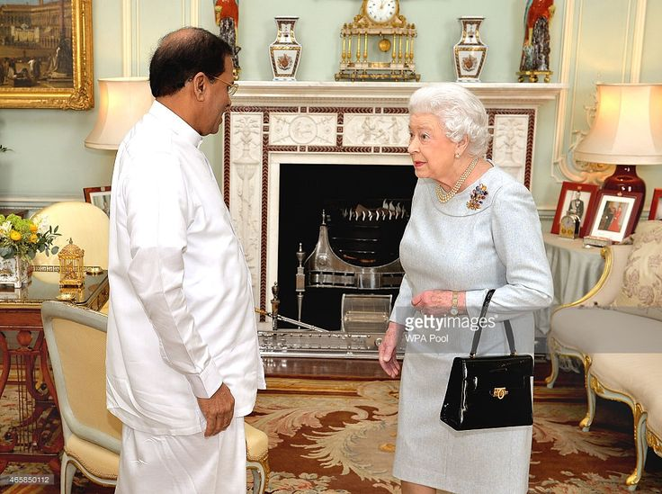 The President of Sri Lanka Mr Maithripala Sirisena meets Queen Elizabeth II…