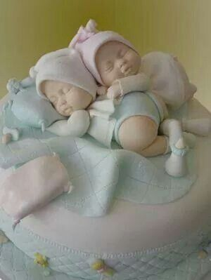 Twins · Twin Baby Shower CakeBaby ...