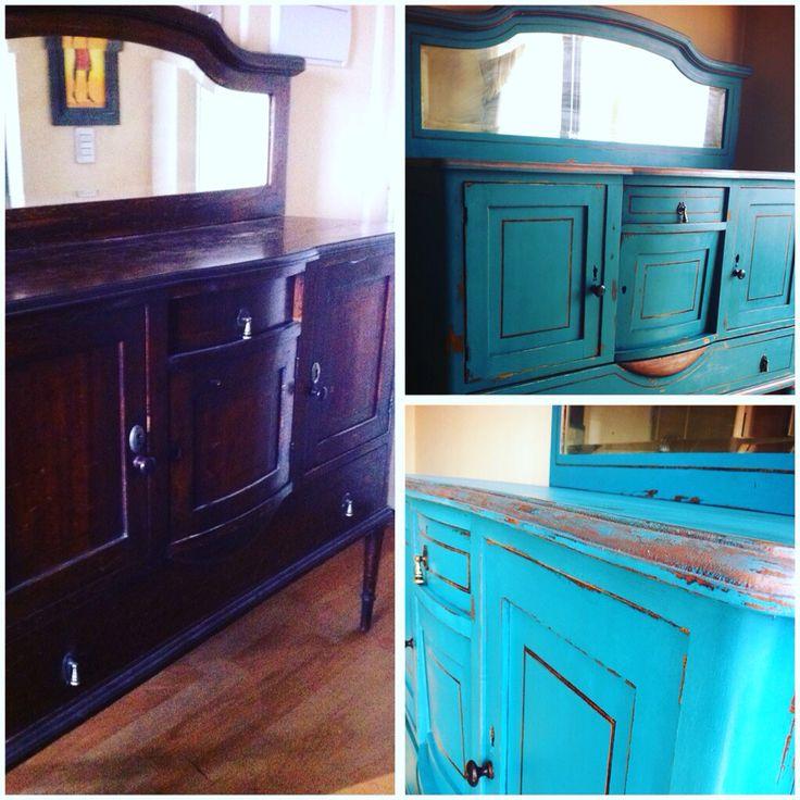 Restauración de impecable mueble de comedor!