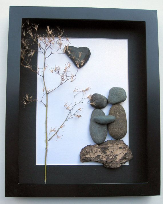 Unique Engagement Gift- Personalized Couple's Gift - Pebble Art - Love Gifts on Etsy, $60.00 CAD