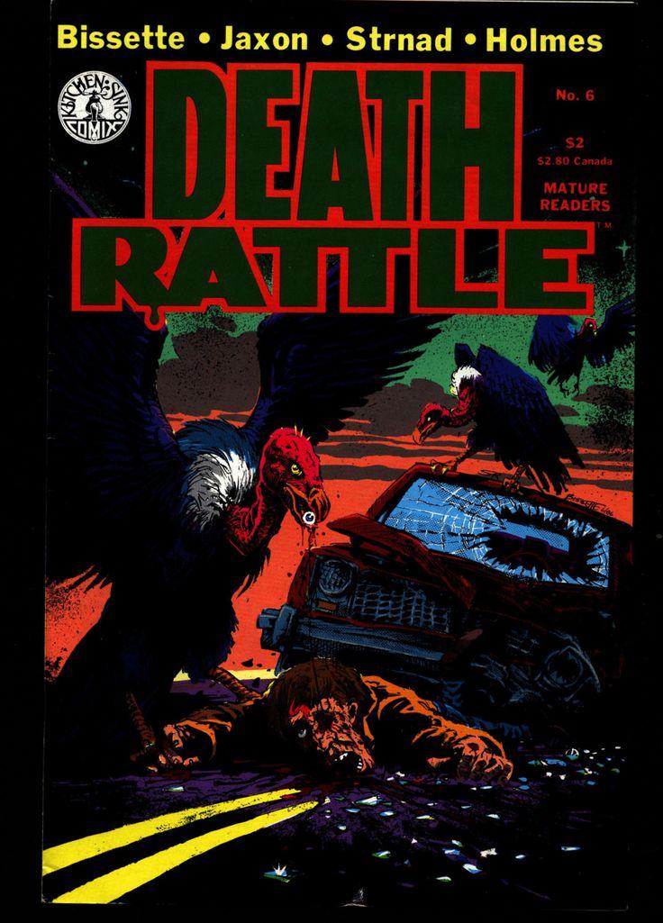 DEATH RATTLE #6 Tom Veitch Steve Bissette Jack Jackson Jaxon Rand Holmes Jan Strnad Fantasy Psychedelic Underground Anthology Comic