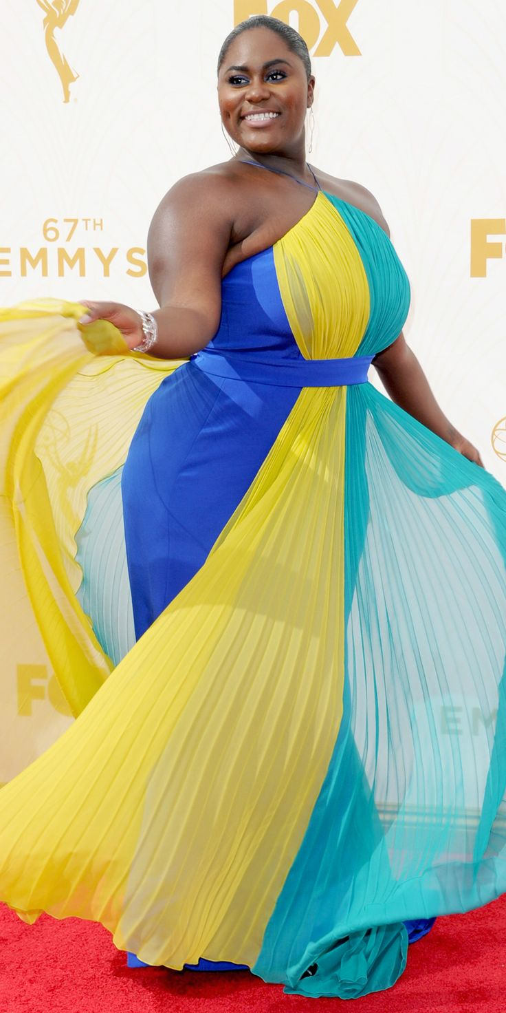 Danielle Brooks - Emmys 2015 Red Carpet Arrivals - in custom Christian Siriano - from InStyle.com