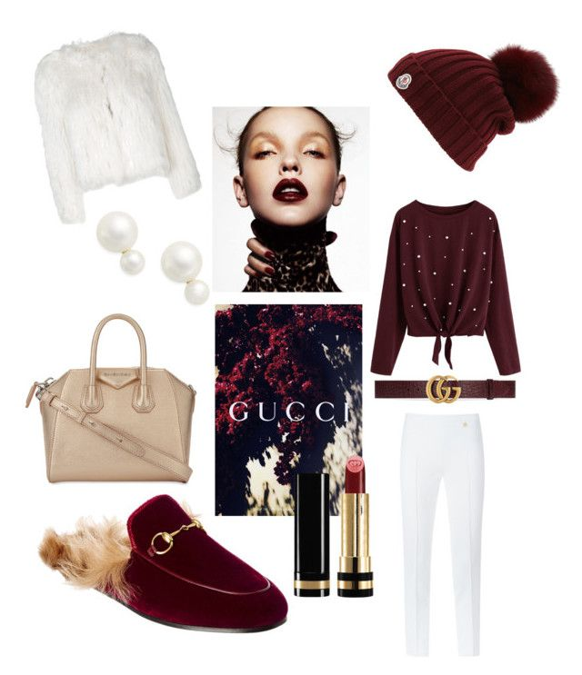 """Gucci Burgundy"" by kaoutar-rayour on Polyvore featuring Versace, Kate Spade, Moncler, Gucci, Maison Margiela, Givenchy and burgundy"