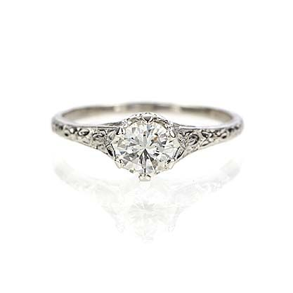Leigh Jay Nacht Inc. - Replica Art Nouveau Engagement Ring - 3253-03