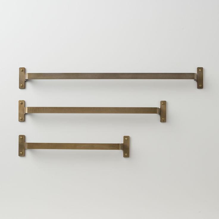 A Schoolhouse Electric exclusive, this heavy-gauge steel towel bar is plated in brass and protected by a satin-gloss finish formulated to withstand humid bathroom environments. Comes with matching mounting hardware. Designed in-house at Schoolhouse Electric and made to last a lifetime. The 18