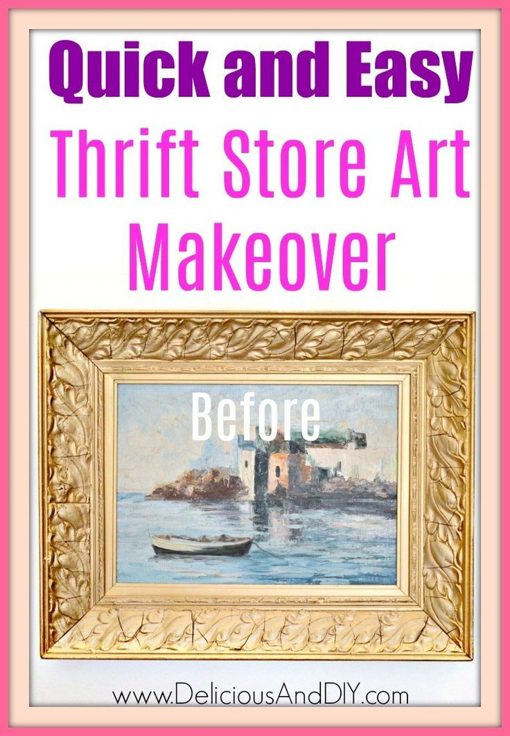Quick And Easy Way To Upcycle Thrift Store Wall Art