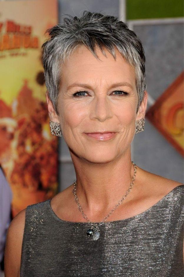 Jamie Lee Curtis proves that grey hair looks great on older women like me! :)