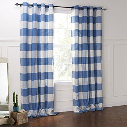 Amazon.com: FirstHomer HOME Collection Premium Country Classic Check Plaid Cotton - Nickle Grommet/Eyelet - Blackout Lined - Curtain Panel Drapes ( 1 Panel ) Green 84Wx96L Inch: Home & Kitchen