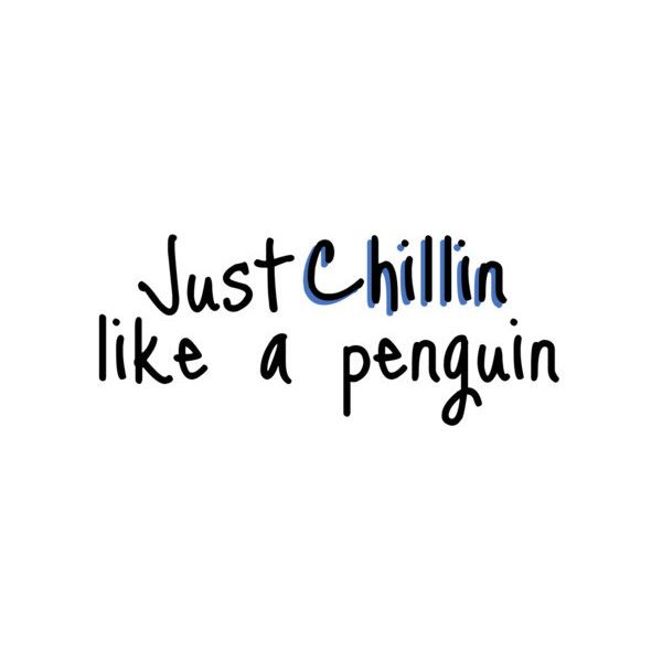 Tumblr quote cute penguin, adorable, love ❤ liked on Polyvore