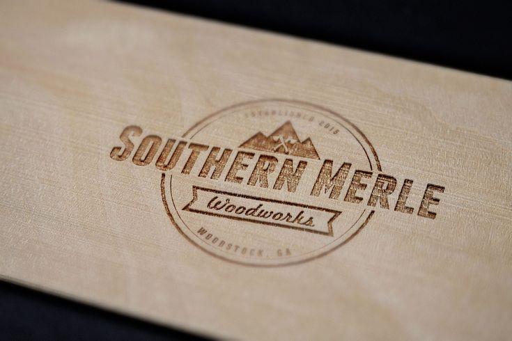 Southern Merle Woodworks Logo Branding, an Atlanta based woodworking and custom furniture shop. southernmerle.com #CustomWoodworkingLogos