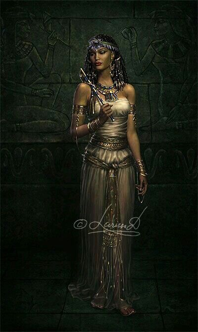 "Nephthys is the Egyptian Goddess of the Dead.  Her name means ""Mistress of the House"" in the Egyptian language. She has also been called the ""Friend of the Dead"". Nephthys is the shadow of her sister Isis and rules over the darkness and the secrets of death.  She is the protector of souls and the queen of the Underworld."
