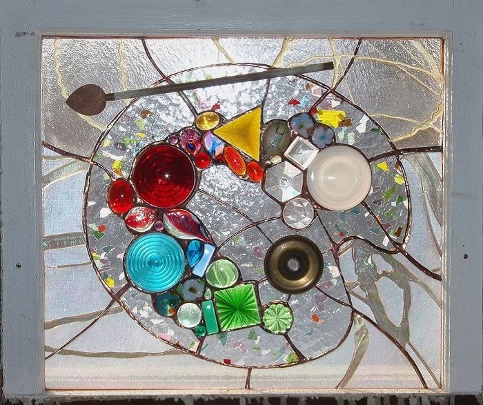 51 best images about stain glass on pinterest glass art for Recycled glass art projects