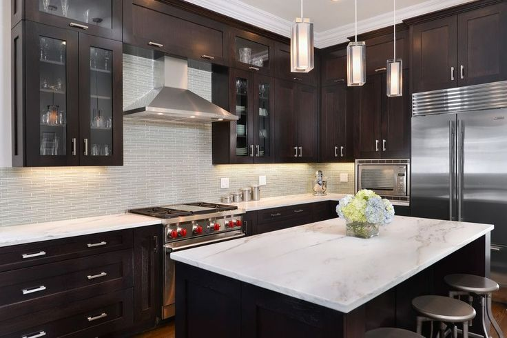espresso kitchen cabinets with granite best 20 espresso kitchen ideas on 8877
