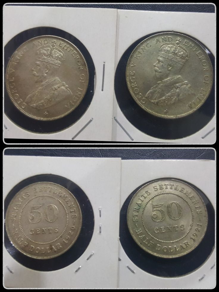 1920/21 Straits Settlement 50 cents