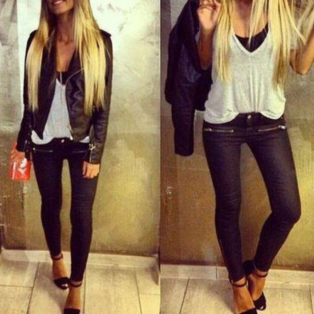 Teen fashion edgy outfit