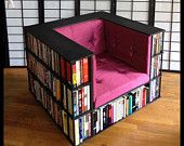 Fantastic Idea!! Items similar to Gentleman's Luxury Library Bookcase Chair - Made to Order on Etsy, a global handmade and vintage marketplace.