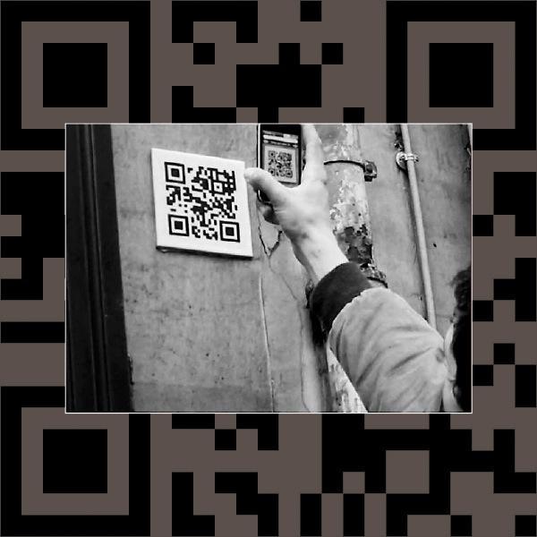 28 best qr code in the city images on pinterest qr codes campaign art qr code dans les rues fandeluxe Image collections