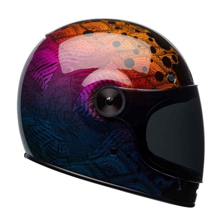 "BELL Bullitt ""Hart Luck Metallic Bubbles"" Special Edition retro motorcycle helmet."