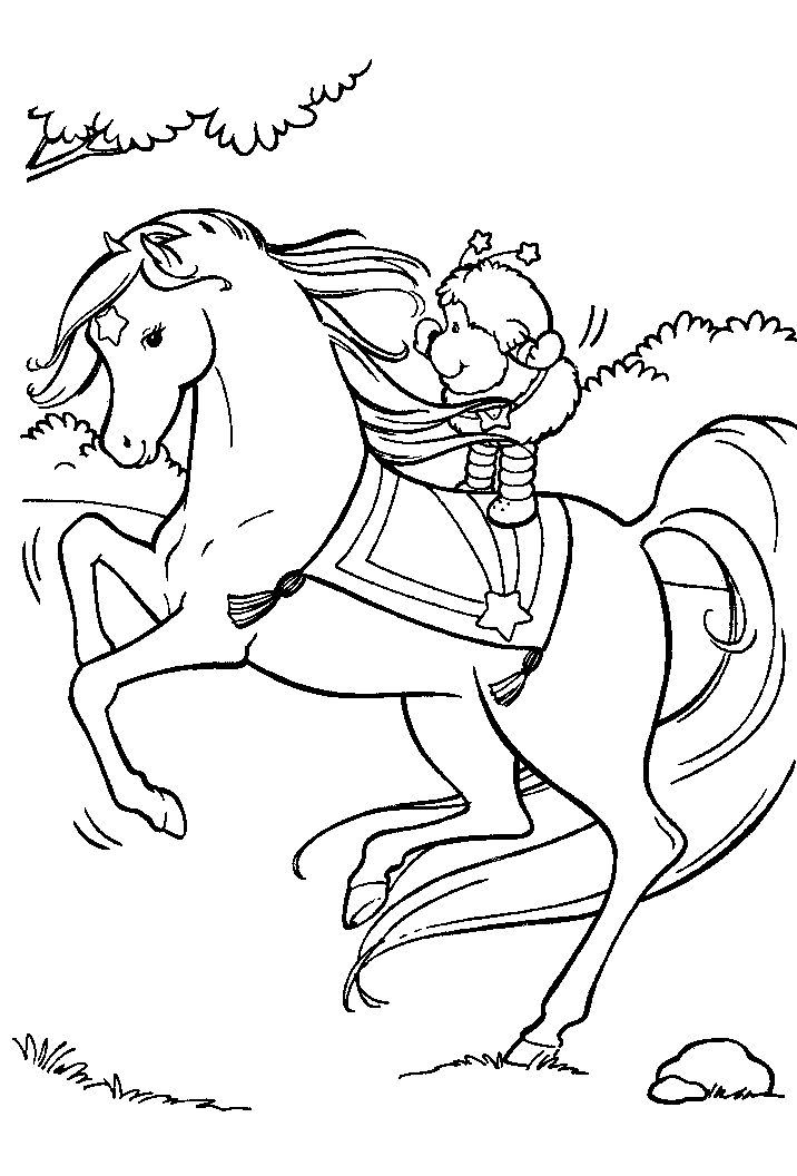 rainbow brite coloring pages printable - 114 best images about horse activities for kids on pinterest