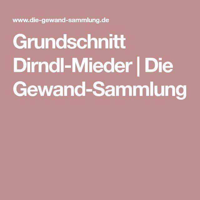 Grundschnitt Dirndl-Mieder   Die Gewand-Sammlung