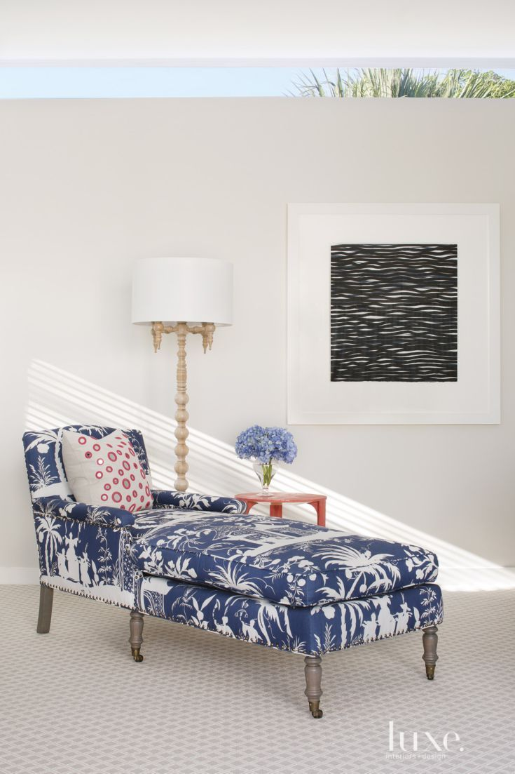 In The Master Bedroom, A Cisco Brothers Chaise In China Seas Fabric Offers  A Comfy