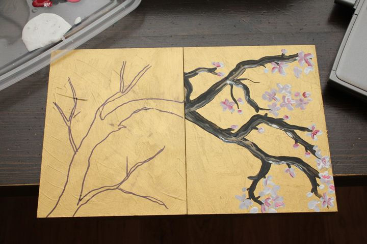 In honor of spring and because I watch the Apprentice, I've been inspired to make some Japanese Cherry Blossom wall art. How do I go from sp...