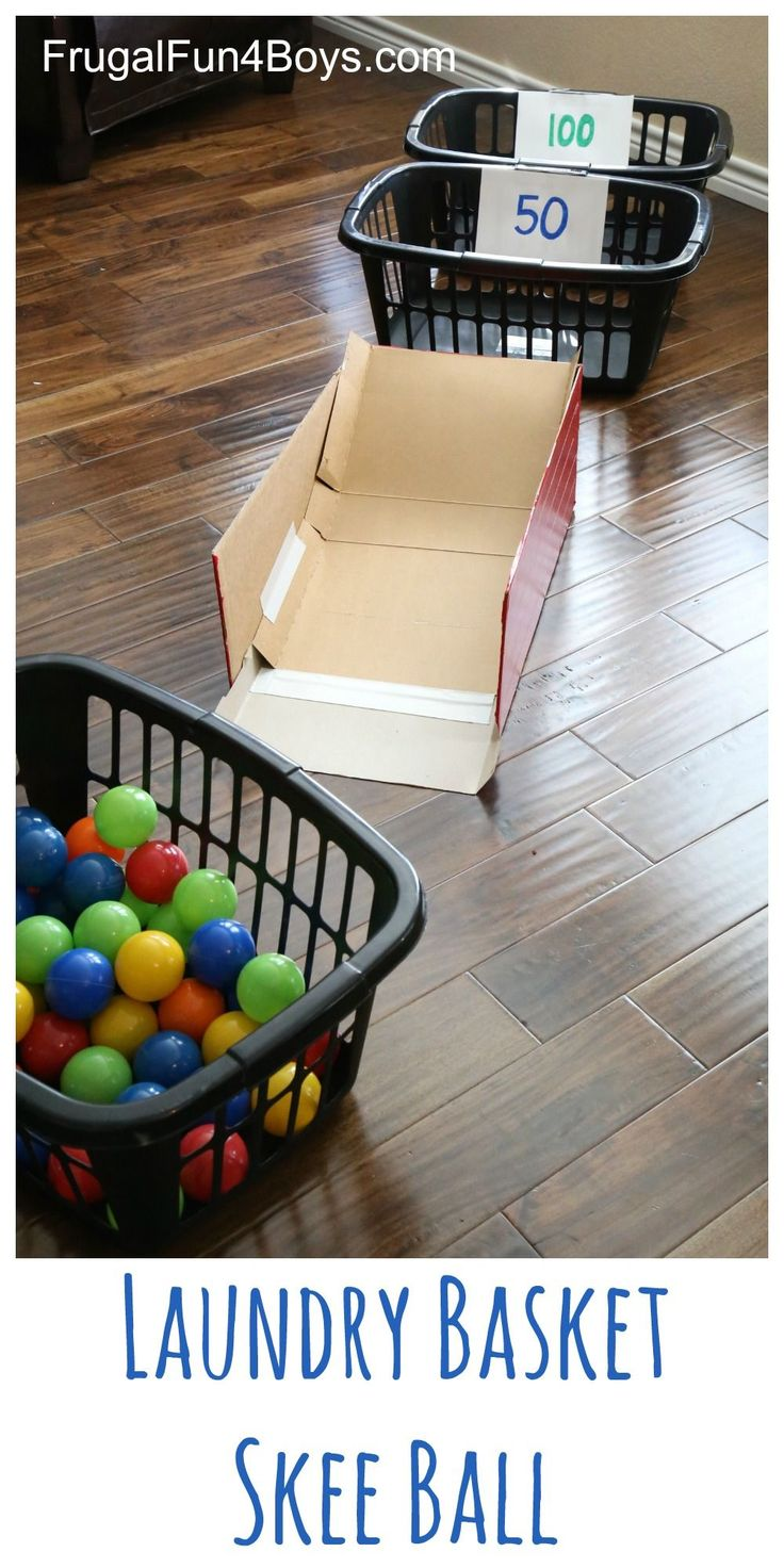 1000 images about summer activities for teens laundry basket skee ball ball pit balls