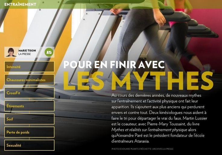 Au cours des dernières années, de nouveaux mythes  sur l'entraînement et l'activité physique ont fait leur apparition. Ils s'ajoutent aux plus anciens qui perdurent envers et contre tout. Deux kinésiologues nous aident à faire le tri pou