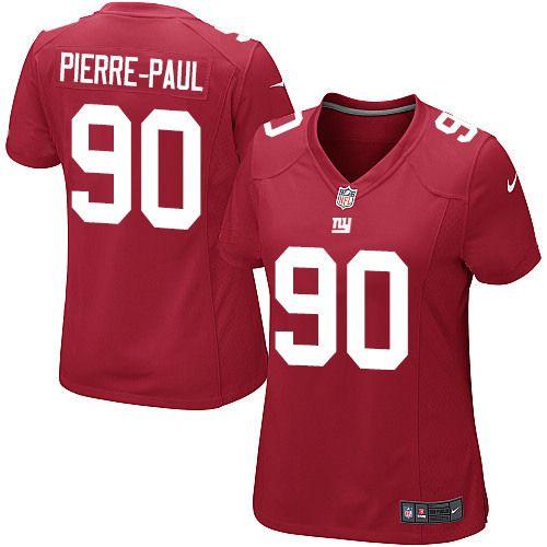 Women's Nike New York Giants #90 Jason Pierre-Paul Elite Red Alternate Jersey $69.99