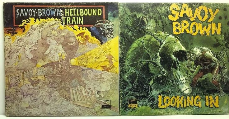 Savoy Brown LP Vinyl Record Album Lot: Hell Bound Train + Looking In stores.ebay.com/capcollectibles
