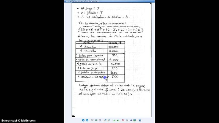 VIDEO NUMERO 51: PROBLEMA DE APLICACION DE VALOR NUMERICO (+lista de rep...