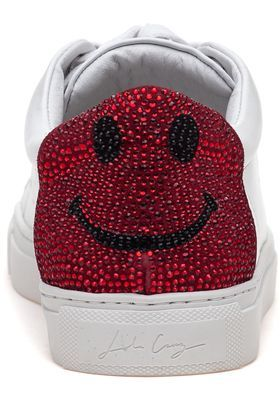Cutest sneakers must have Lola Cruz 238Z10BK White/Red Lace Up Sneakers - Jildor Shoes, Since 1949