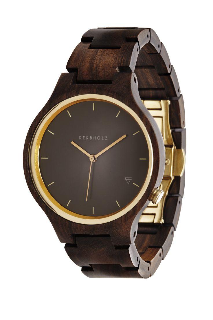 Kerbholz Lamprecht Armbanduhr aus Holz Sandelholz Holzuhr