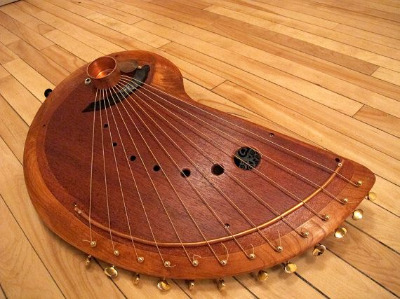 Handmade wooden musical string instrument.Harp by RaysRootworks, $600.00