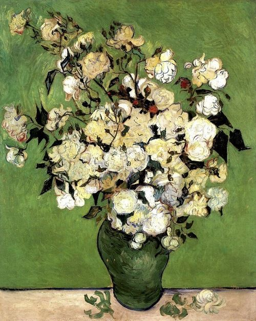"""A Vase Of Roses"", 1890   By: VINCENT VAN GOGH…."