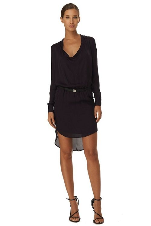 Haute Hippie Cowl Shirt Dress $435