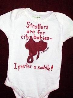 Horse Infant Bodysuit - I Prefer A Saddle $16.00 #thecraftstar