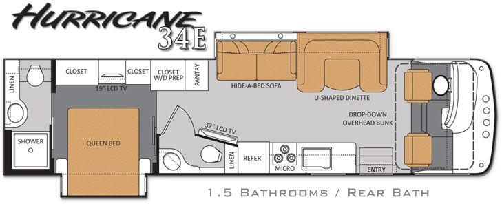 RV 2 bathroom Floor Plans – Rv Bathrooms