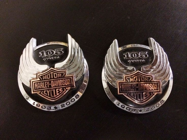 Harley Davidson 105th Anniversary Tank Badges Emblems Harley Davidson Collectibles Pinterest